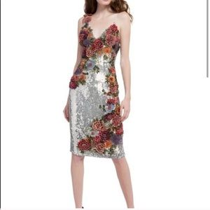 ALICE + OLIVIA Francie Sequin Dress 2 NWT